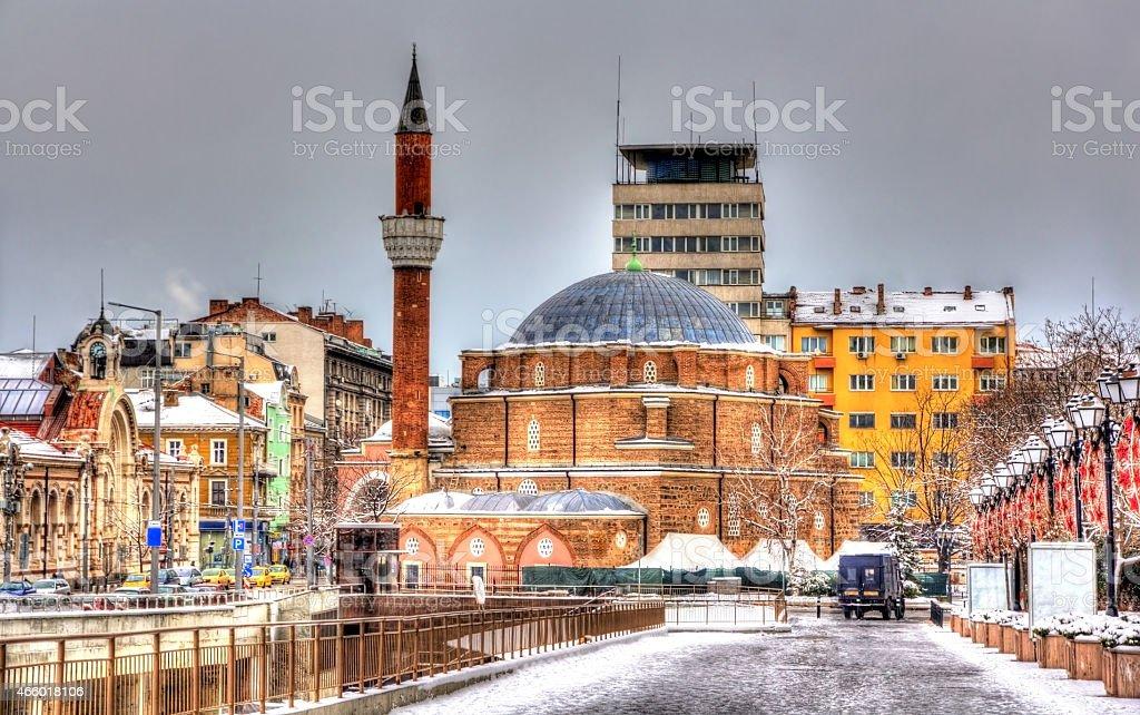 Banya Bashi Mosque in Sofia - Bulgaria stock photo