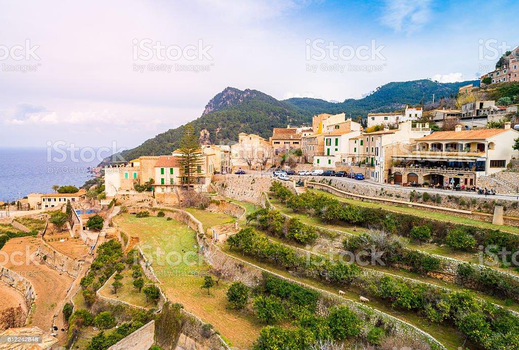 Banyalbufar, Mallorca stock photo