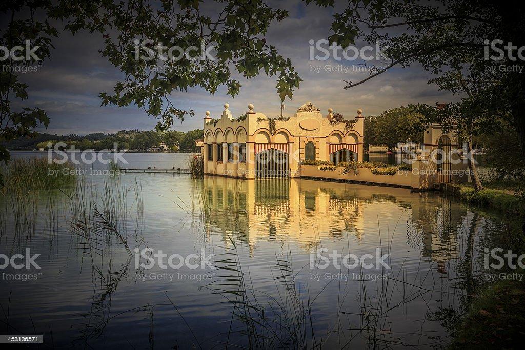 Banyoles lagoon stock photo