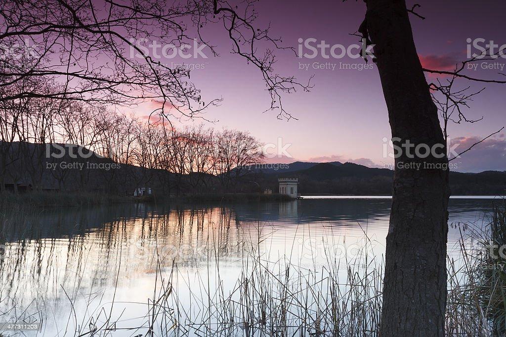 Banyoles lake, Girona, Catalonia, Spain stock photo