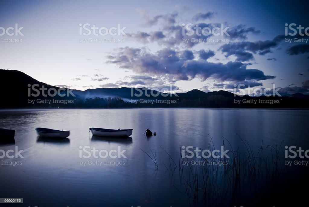 Banyoles Lake in Girona royalty-free stock photo