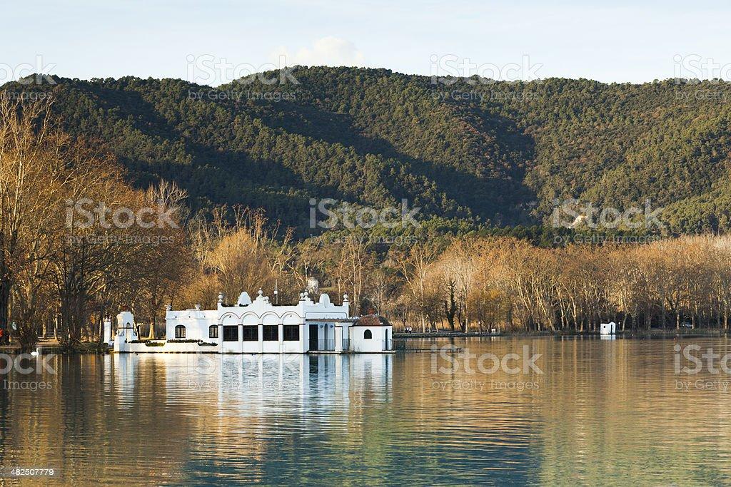 Banyoles Lake stock photo