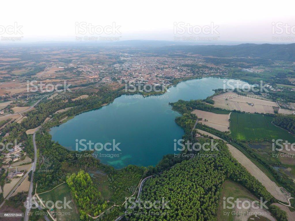 Banyoles, lake, stock photo