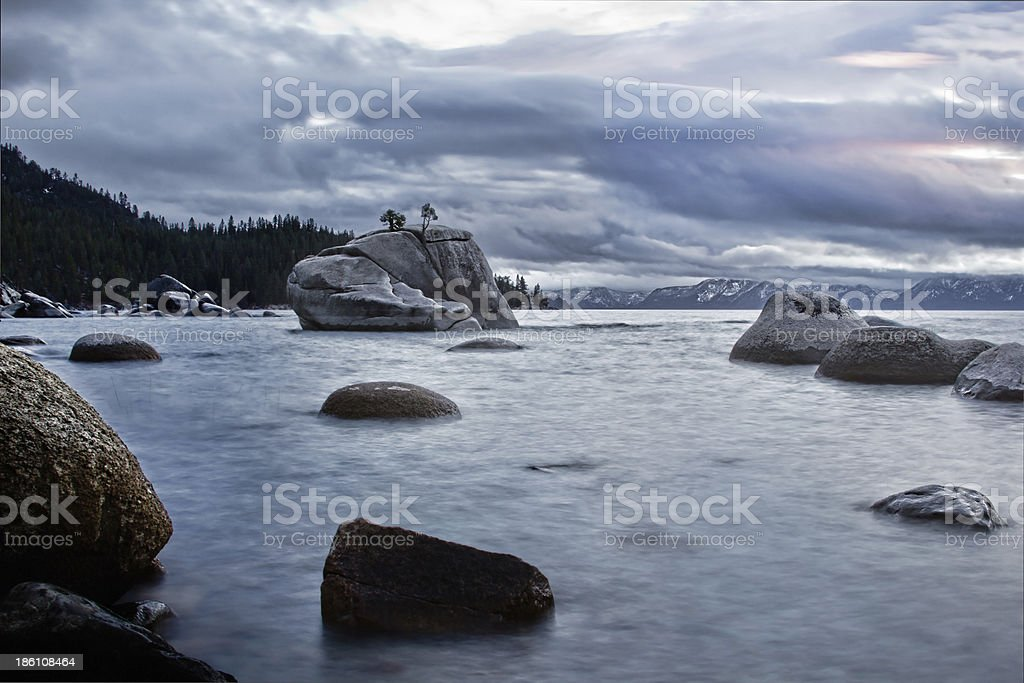 Banzai Rock, Lake Tahoe royalty-free stock photo