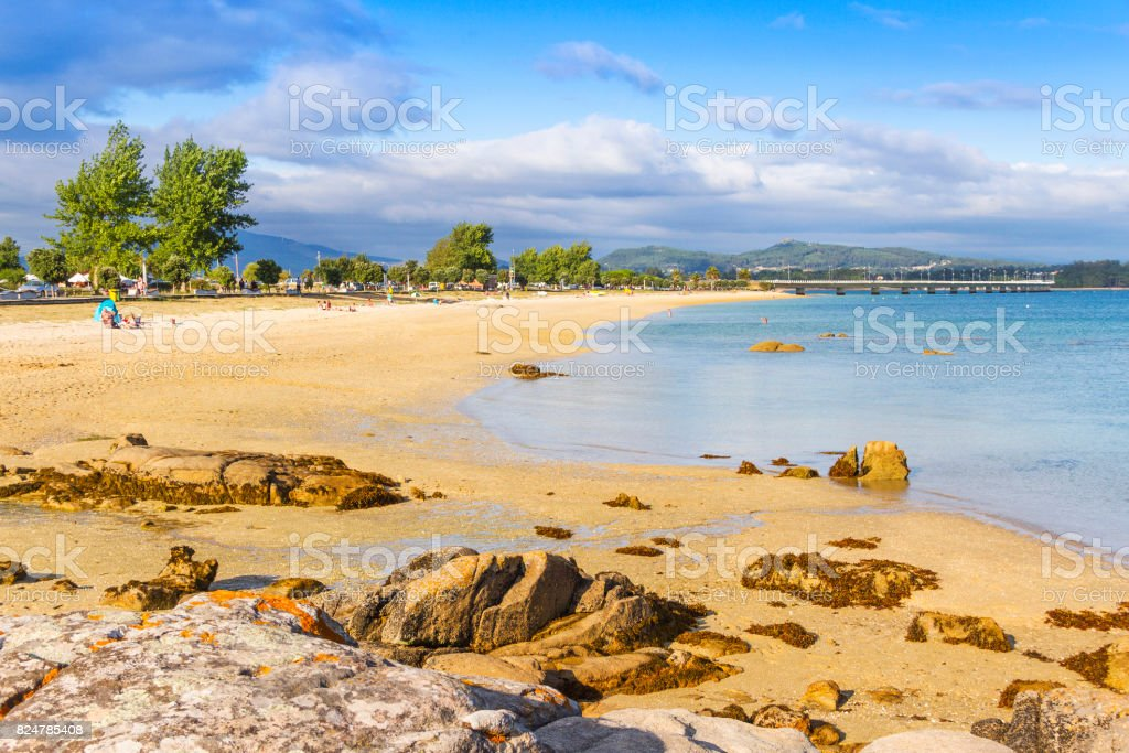 Bao beach in Arousa Island royalty-free stock photo