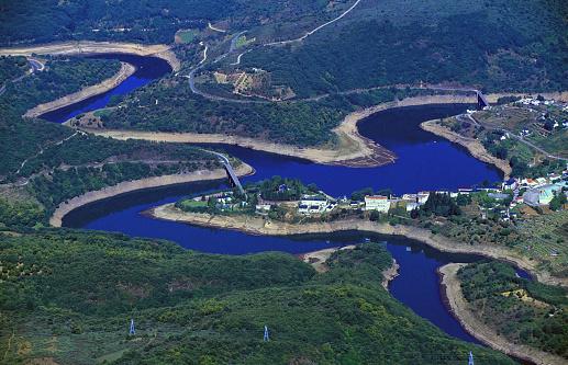 Bao river reservoir in Viana do Bolo de Galicia Spain