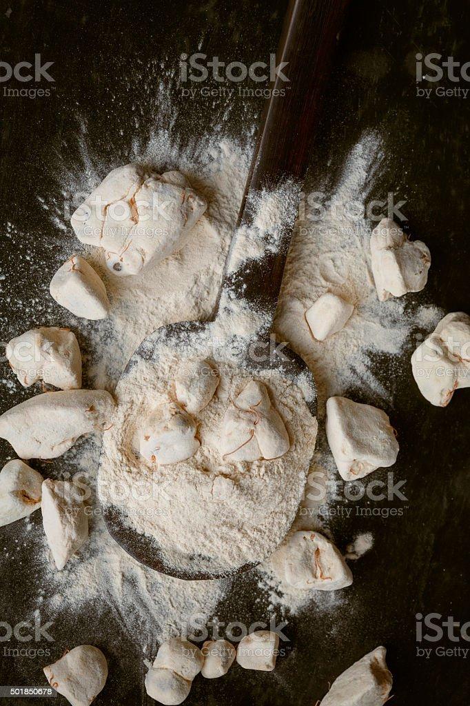 Baobab Fruit and powder stock photo
