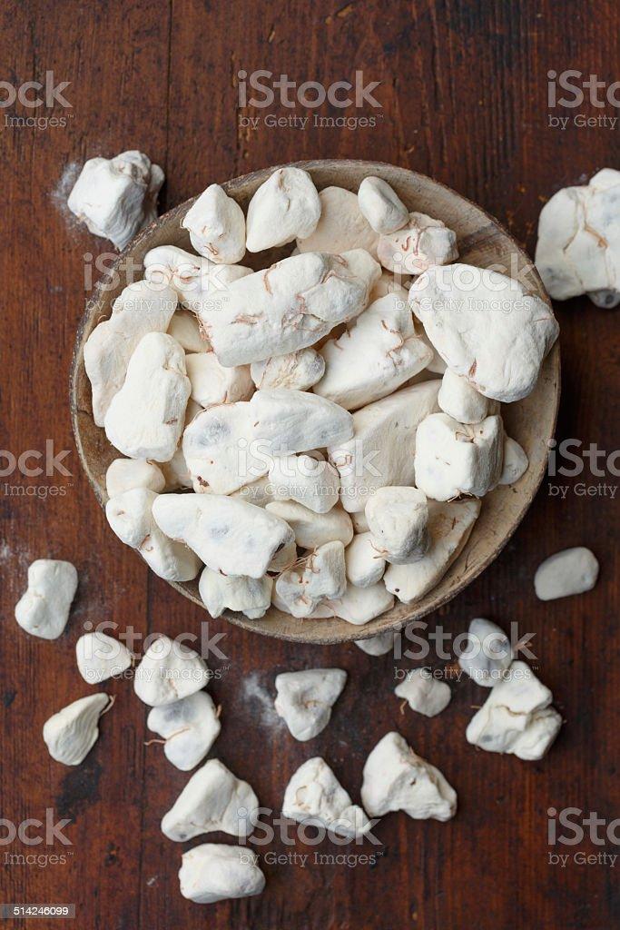 Baobab fruit pulp stock photo