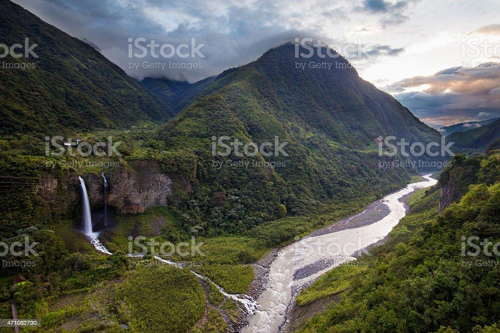Baños de Agua Santa, Ecuador stock photo