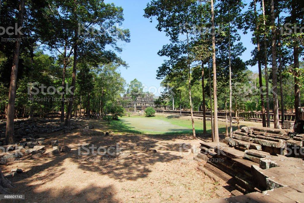 Baphuon Temple Frontyard stock photo
