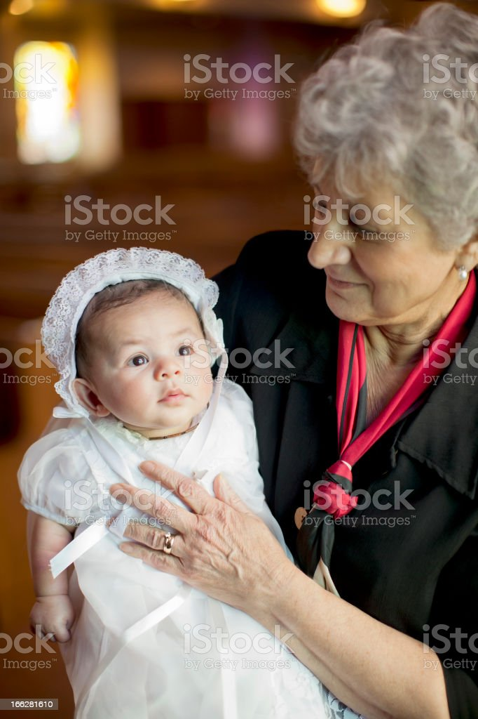 Baptism: Baby Boy Christening Gown stock photo