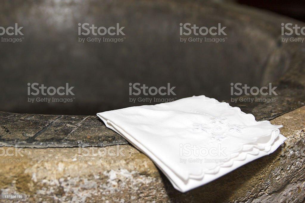 Baptism Font stock photo