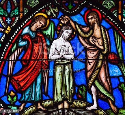 istock Baptism of Jesus by Saint John the Baptist 607972008