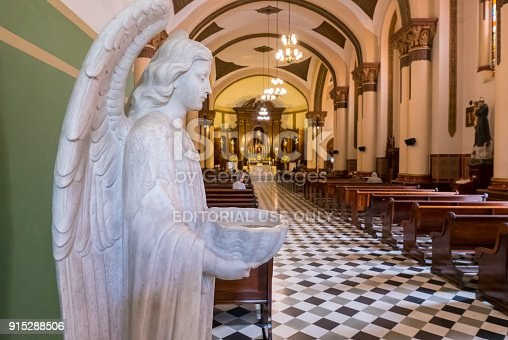 istock baptismal font in the shape of an angel church san jose of poblado medellin 915288506