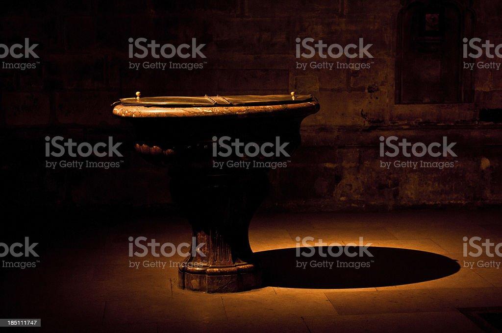 Baptismal Font stock photo