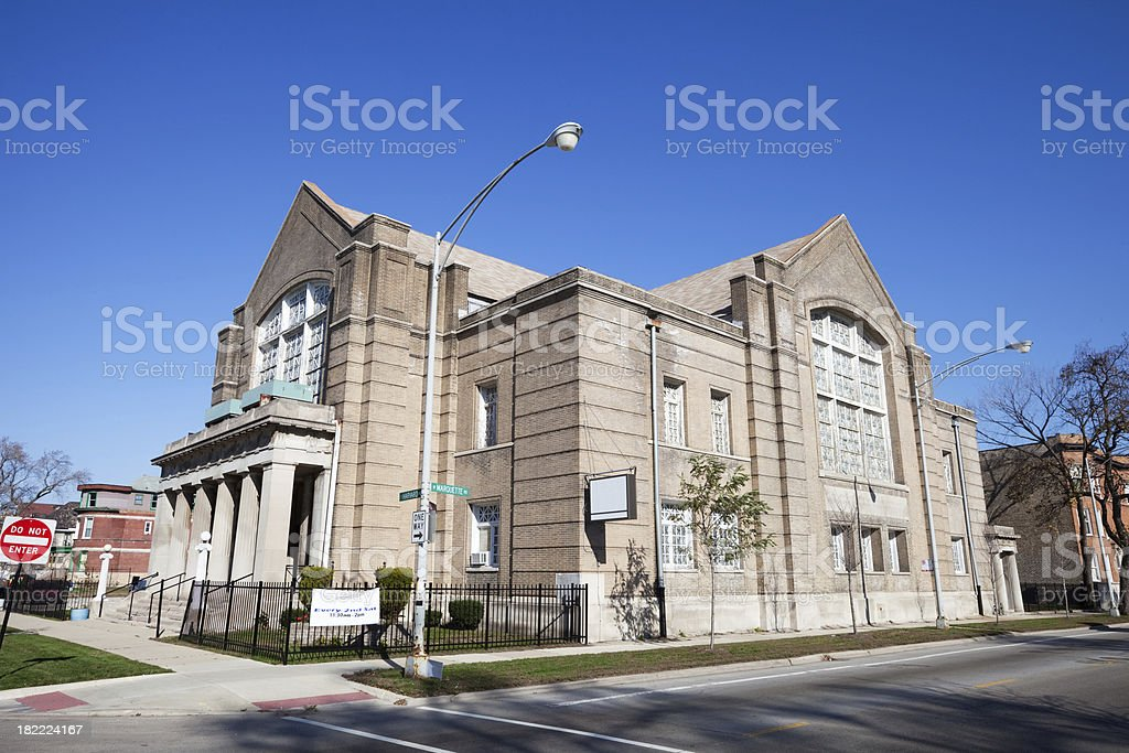 Baptist Church in Southwest Chicago royalty-free stock photo