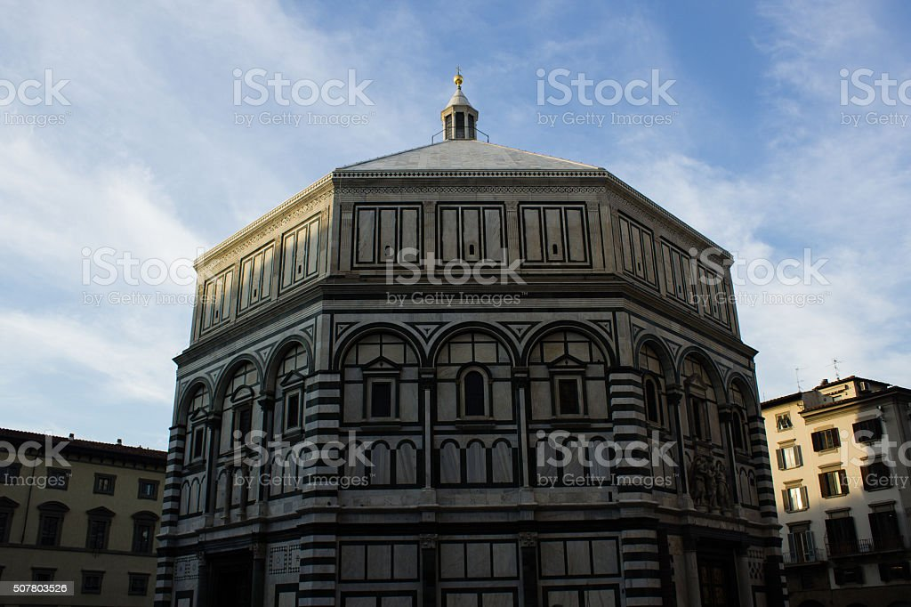 Baptistery Florence Santa Maria del Fiore Cathedral stock photo