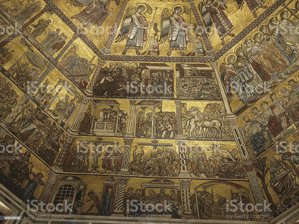 Baptistery of Florence royalty-free stock photo