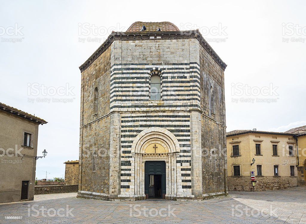 Baptistery of San Giovanni, Volterra Tuscany Italy stock photo
