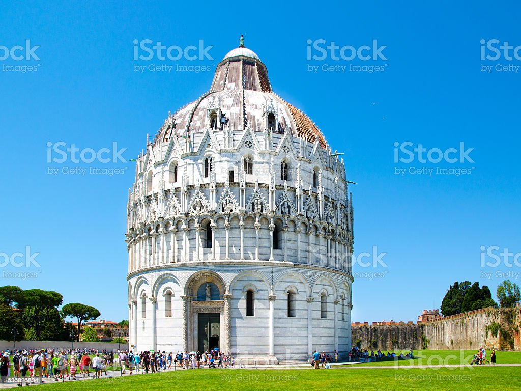 Baptistery of St. John, Roman Catholic ecclesiastical building in Pisa stock photo