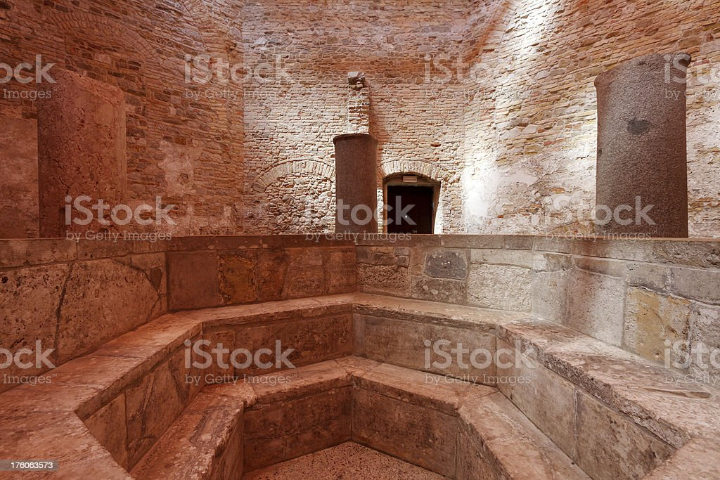 Baptistery stock photo