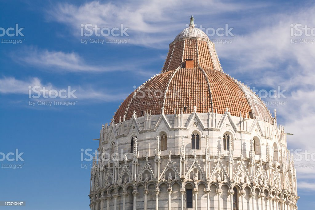 Baptistry of the Cathedral - Pisa, Italy royalty-free stock photo