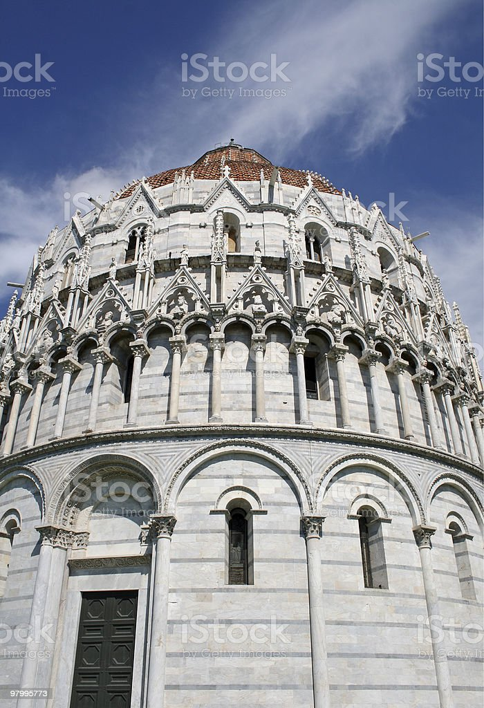 Baptistry (Pisa) royalty-free stock photo