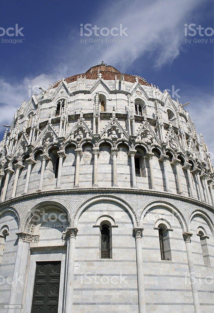 Baptistry (Pisa) royalty free stockfoto