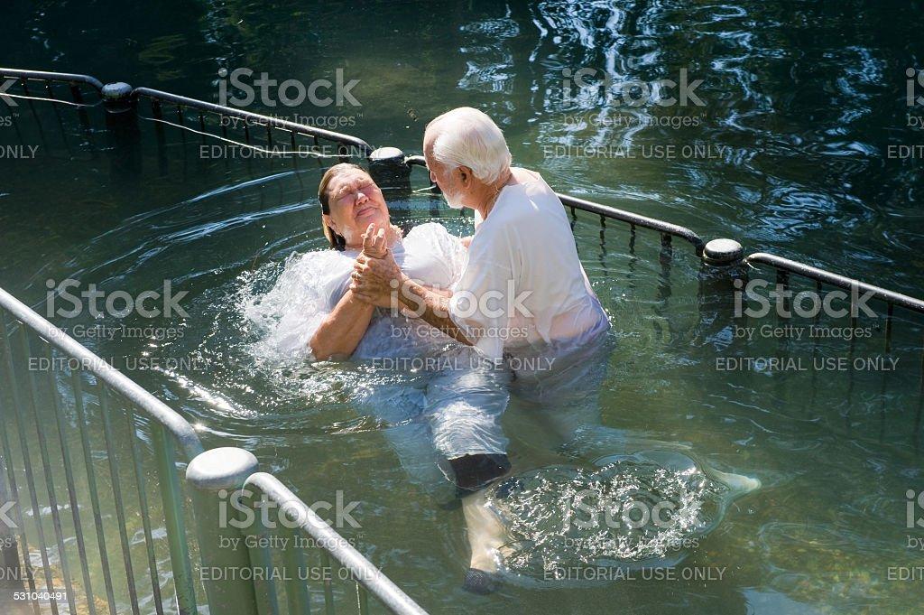 Batizado em rio Jordão - foto de acervo