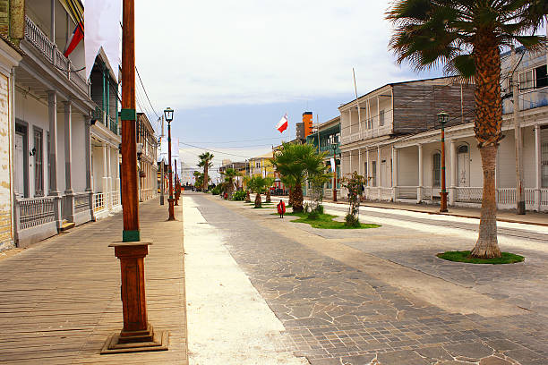 Baquedano Street in old town of  Iquique city in chile stock photo
