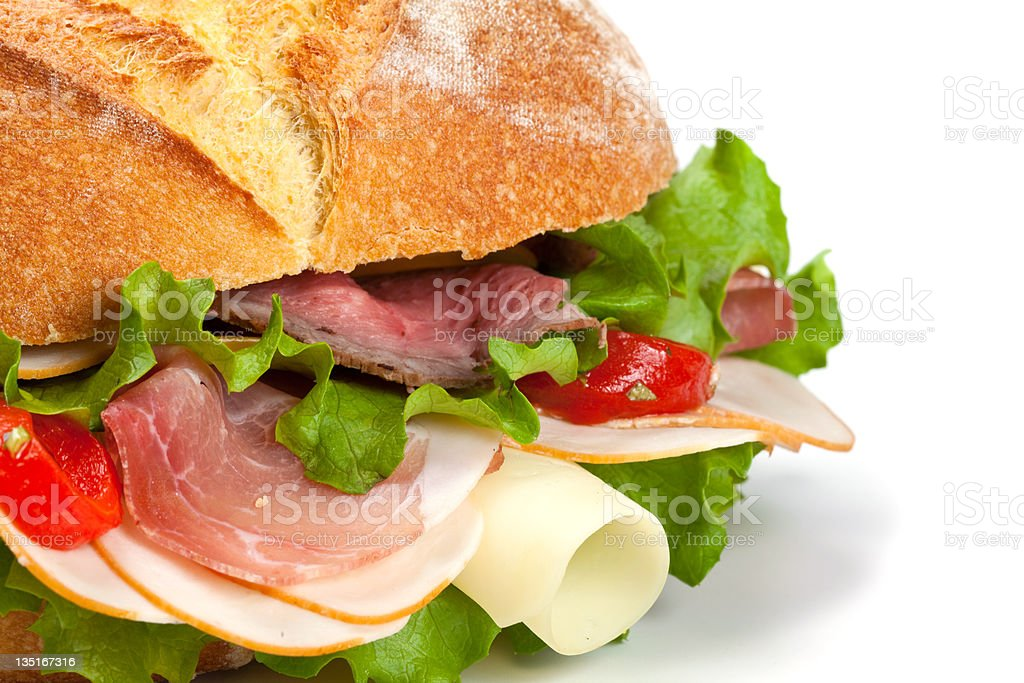 Baquette sandwich royalty-free stock photo