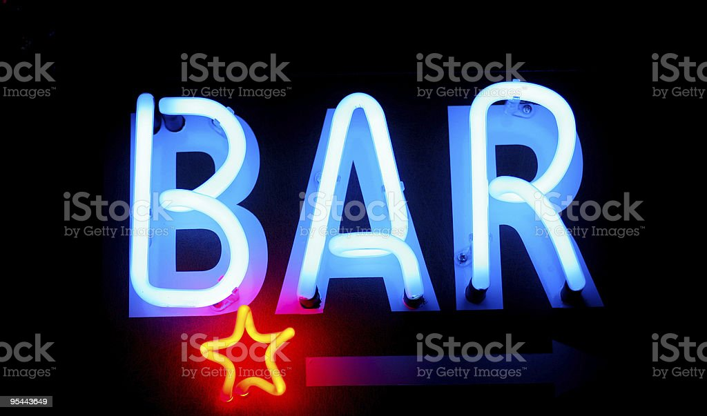Bar-Werbung in Neonfarben – Foto