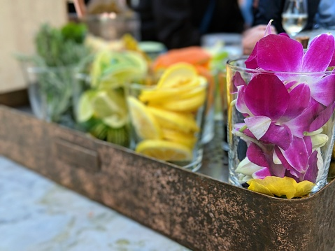 Bar and drink garnish