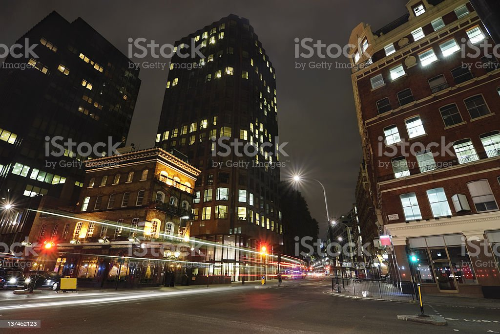 Bar at street crossing in London downtown royalty-free stock photo