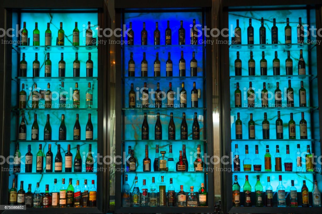 Bar & bottles foto de stock royalty-free