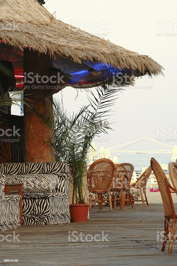 Bar by the beach royalty-free stock photo