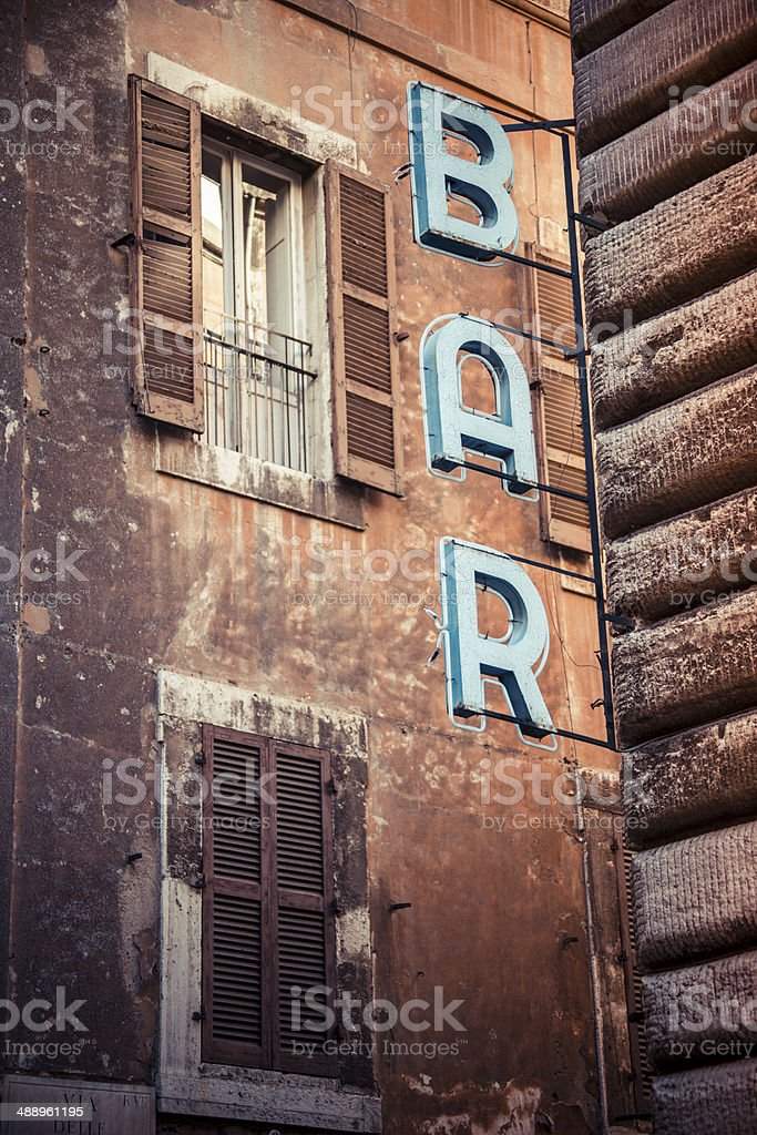 Bar Cafe Rom Altstadt Restaurant stock photo