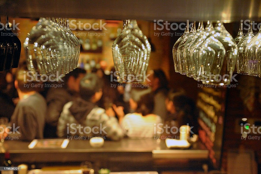 A bar centering on the glasses royalty-free stock photo