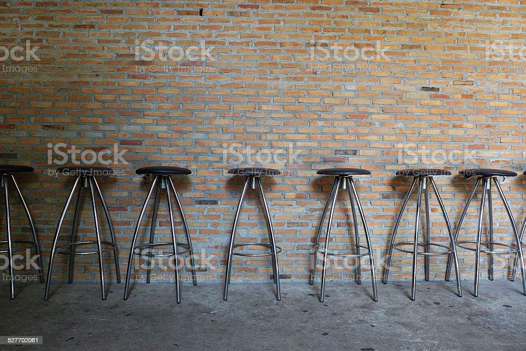 bar chairs stock photo