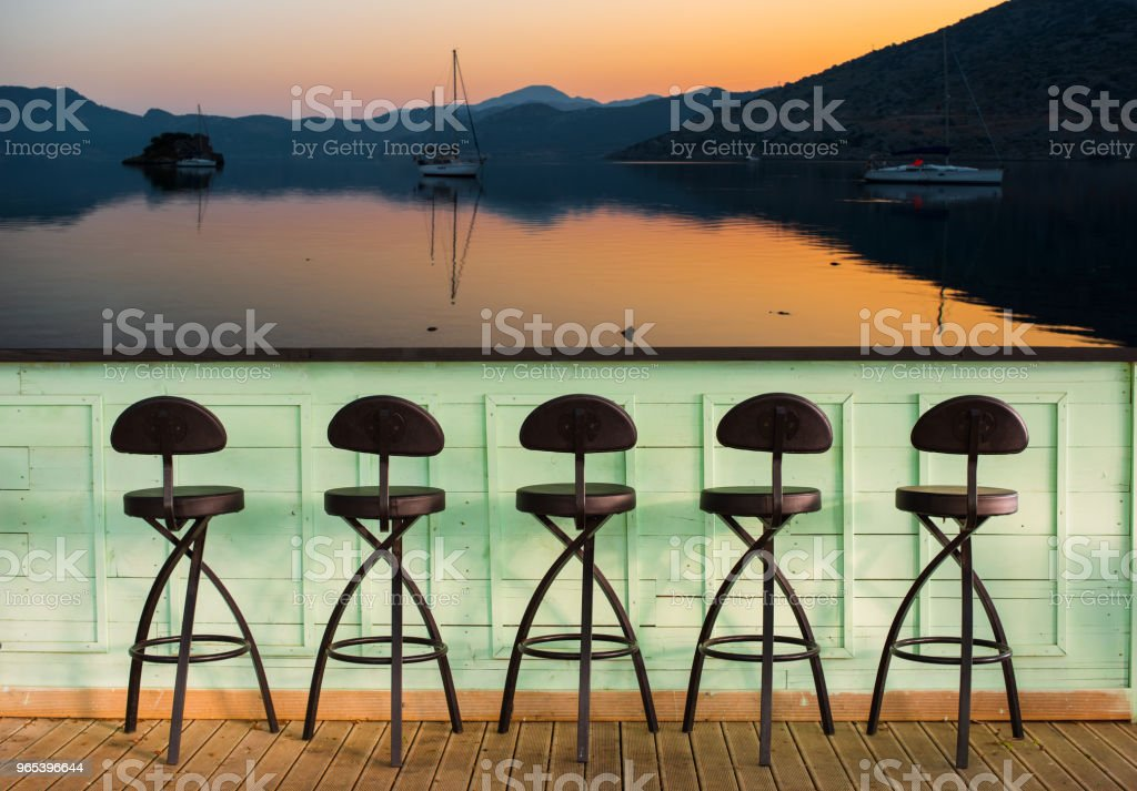 bar chairs royalty-free stock photo