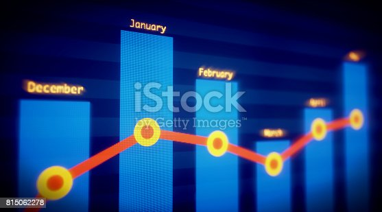 istock Bar Chart Monthly Financial Report 815062278