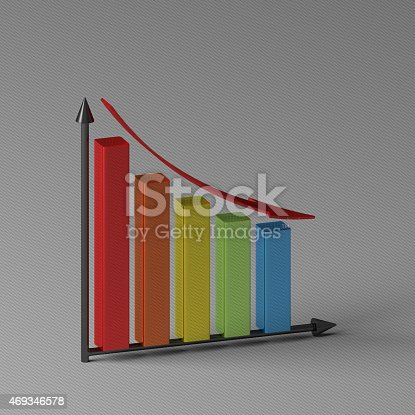 istock Bar chart with axis 469346578