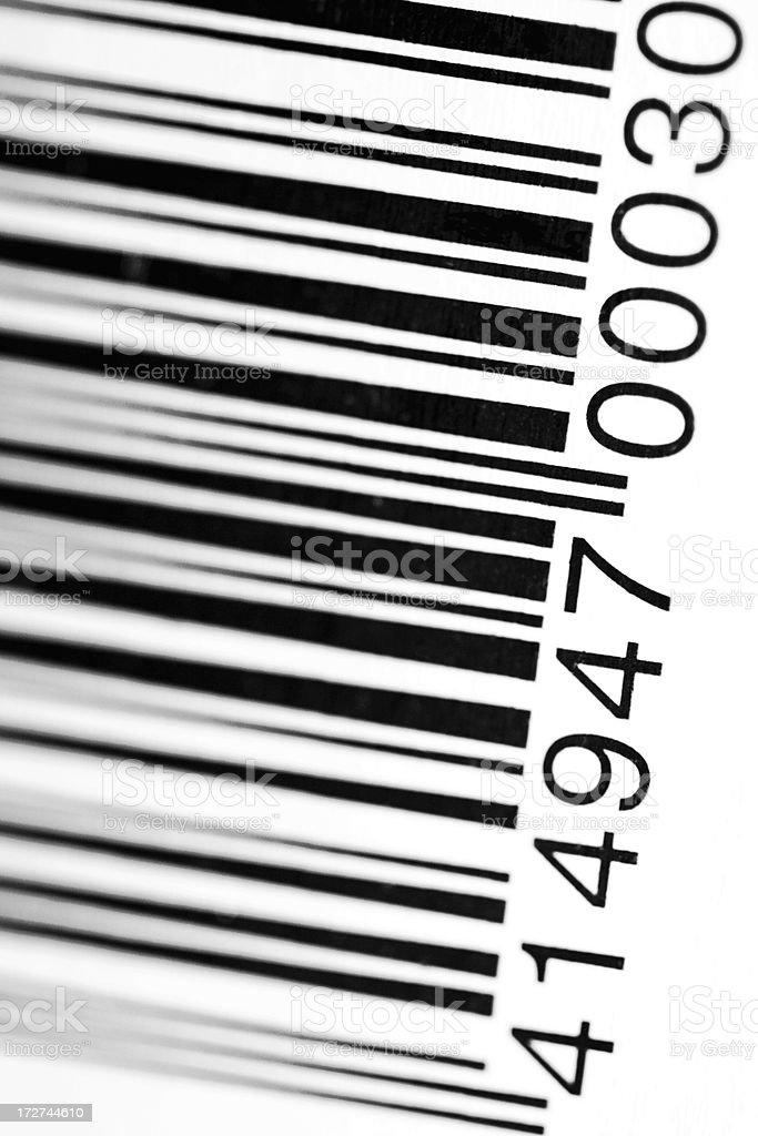 bar code close up royalty-free stock photo
