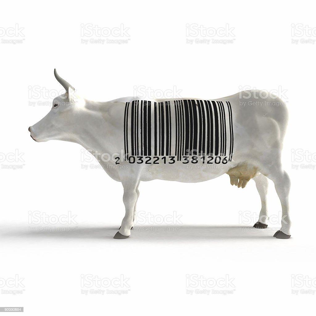 Bar code cow royalty-free stock photo