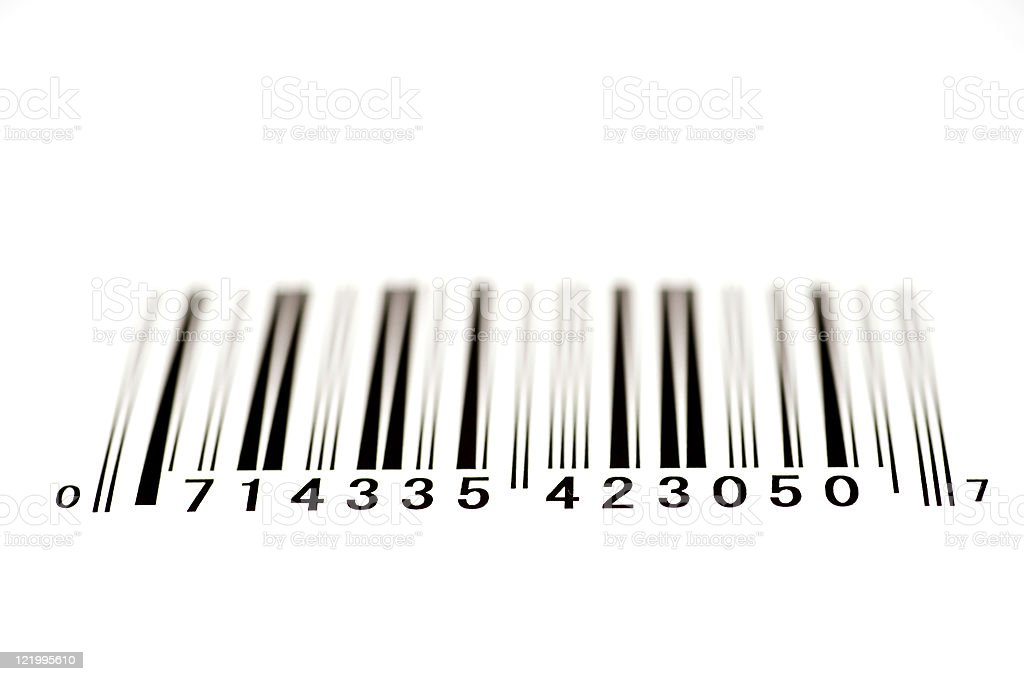 Bar Code From Below With Shallow DOF royalty-free stock photo