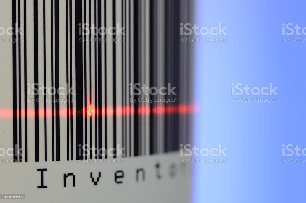 Bar Code of Inventory royalty-free stock photo