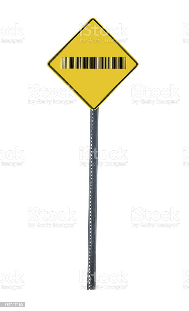 Bar Code Road Sign stock photo