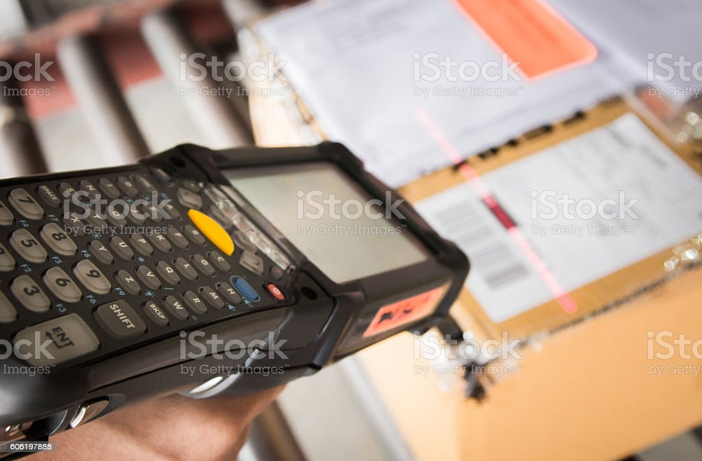 Bar code scanner stock photo