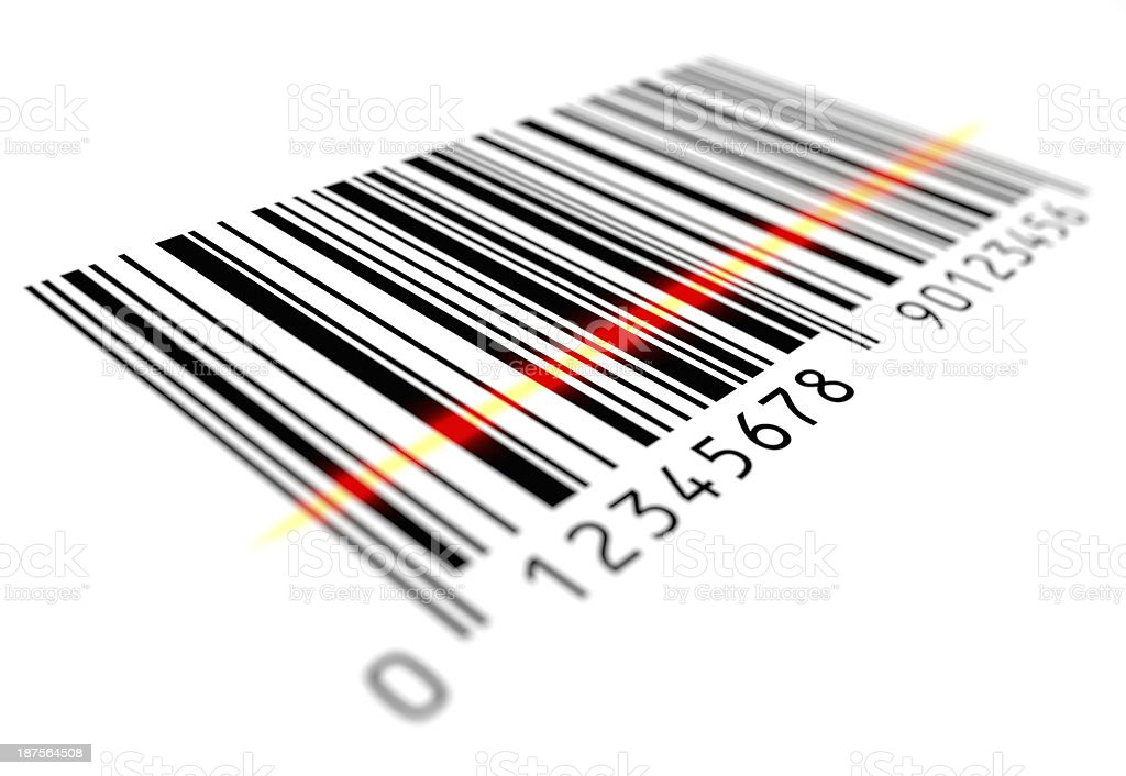 Bar Code Scanning stock photo