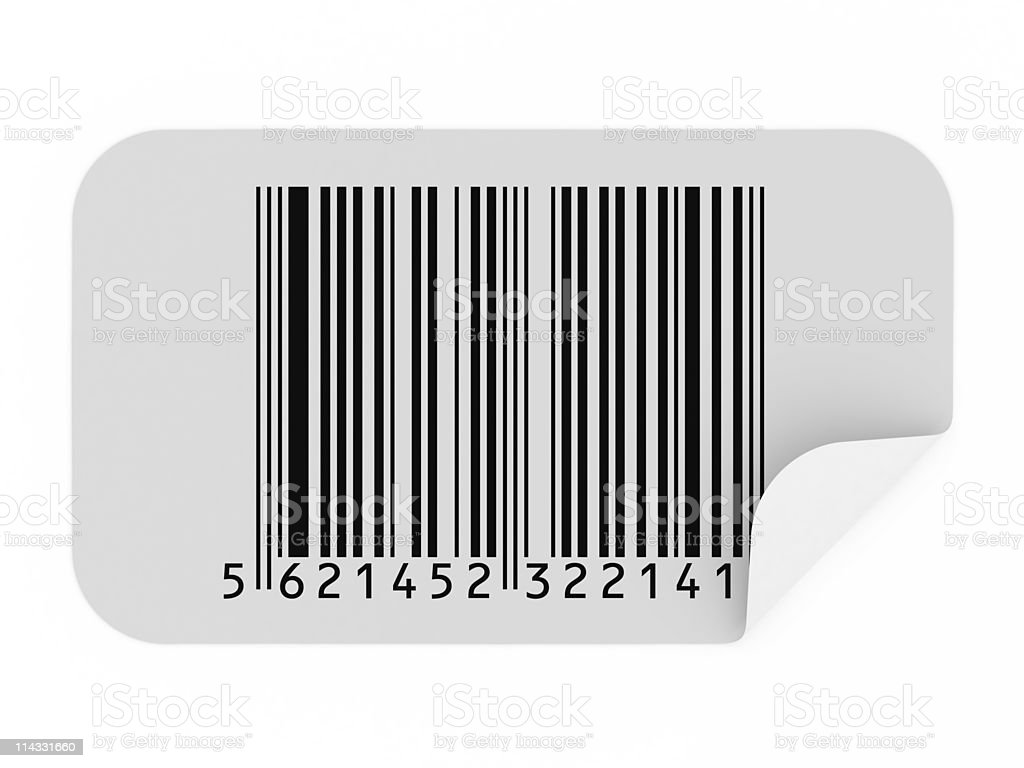 Bar Code Sticker royalty-free stock photo